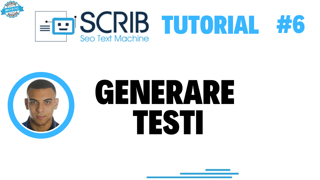 Video tutorial - we generate texts with SCRIB